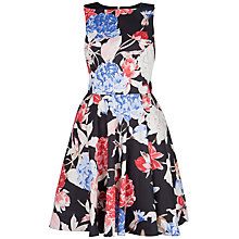 Buy Closet Triangle Cut Out Print Dress, Black Online at johnlewis.com