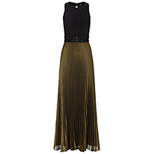 Buy Ariella Carrie Long Dress, Black/Gold Online at johnlewis.com
