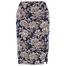 Buy Oasis Provence Floral Pencil Skirt, Multi Purple Online at johnlewis.com