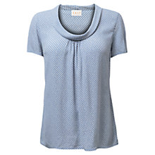 Buy East Shibori Cowl Top, Wedgewood Online at johnlewis.com