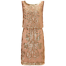 Buy Ariella Tara Sequin Short Dress, Gold Online at johnlewis.com