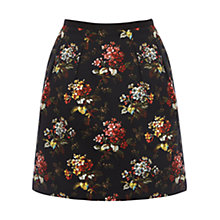 Buy Oasis Primrose Print Full Skirt, Multi Black Online at johnlewis.com
