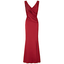 Buy Ariella Rose Satin Long Dress, Red Online at johnlewis.com