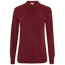 Buy Hobbs Calla Silk Shirt, Berry Online at johnlewis.com
