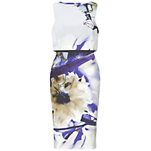 Buy Ariella Louise Print Short Dress, Blue Online at johnlewis.com