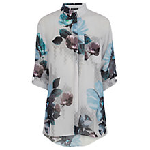 Buy Warehouse Oversized Floral Shirt, Multi Online at johnlewis.com