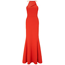 Buy Ariella Bianca Halterneck Maxi Dress, Red Online at johnlewis.com