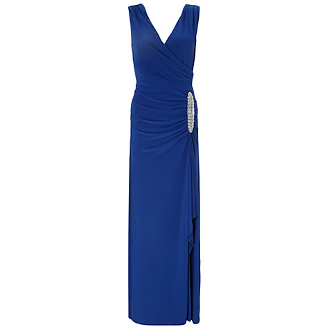 Buy Ariella Celina Wrap Long Dress, Blue Online at johnlewis.com