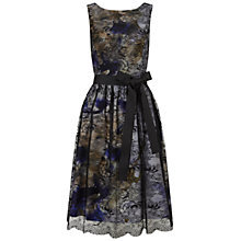 Buy Jenny Print Lace Short Dress, Black/Blue Online at johnlewis.com