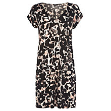 Buy Warehouse Shadow Floral Slinky Dress, Multi Online at johnlewis.com
