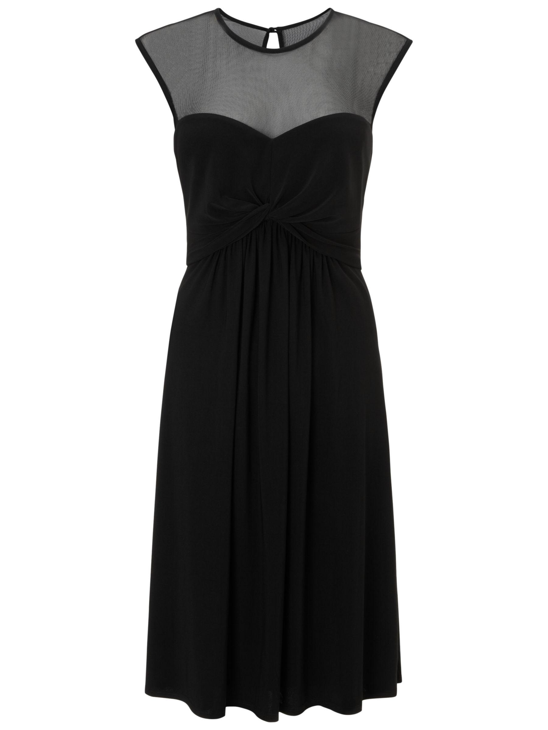 ariella charlie mesh yoke dress black, ariella, charlie, mesh, yoke, dress, black, 14|18|16|12|10|8, women, plus size, womens dresses, edition magazine, little black dress, 1621449
