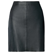 Buy Jigsaw Leather Mini Skirt, Black Online at johnlewis.com