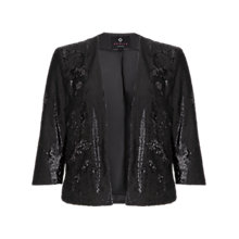 Buy Ariella Jackie Sequin Jacket, Black Online at johnlewis.com