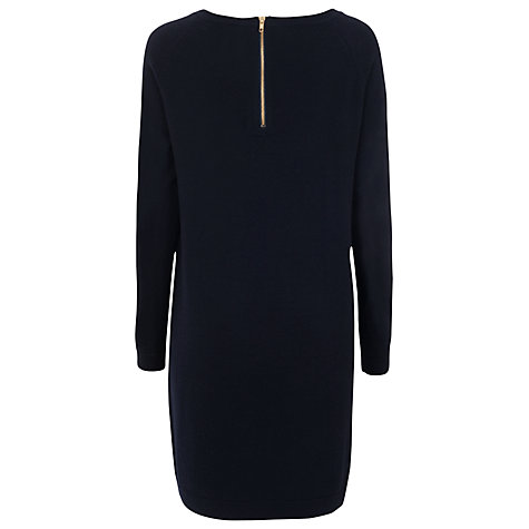 Buy French Connection Marla Merino Wool Dress, Utility Blue Online at johnlewis.com