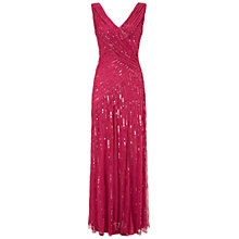 Buy Ariella Juliet Sequin Long Dress, Raspberry Online at johnlewis.com