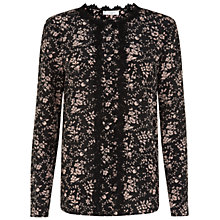 Buy Hobbs Viola Blouse, Pink Black Online at johnlewis.com
