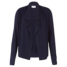 Buy Jigsaw Rib Trim Cardigan, Dark Indigo Online at johnlewis.com