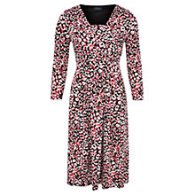 Buy Viyella Animal Print Wrap Dress, Black Online at johnlewis.com
