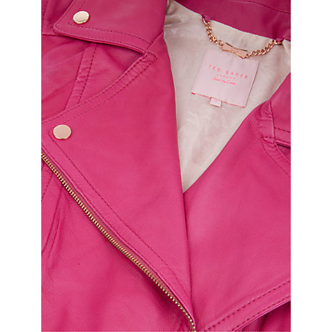 Buy Ted Baker Lambs Leather Biker Jacket Online at johnlewis.com