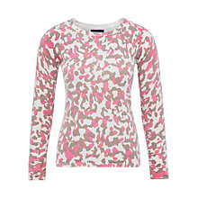 Buy Viyella Animal Print Wool Jumper, Mink Online at johnlewis.com