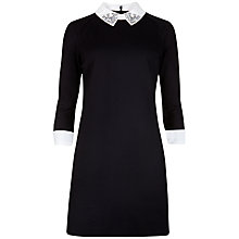 Buy Ted Baker Embellished Collar Dress, Black Online at johnlewis.com