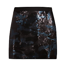 Buy Ted Baker Camouflage Sequin Skirt, Black Online at johnlewis.com