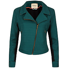 Buy Havren Canvas Biker Jacket, Fern Online at johnlewis.com