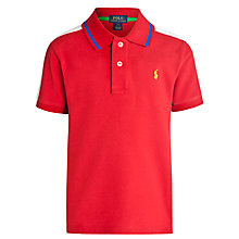 Buy Polo Ralph Lauren Boys Contrast Trim Polo Shirt Online at johnlewis.com