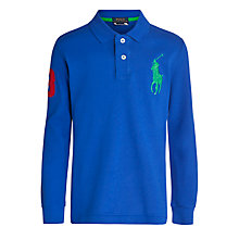 Buy Polo Ralph Lauren Boys' Big Pony Long Sleeve Polo Shirt Online at johnlewis.com