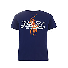 Buy Polo Ralph Lauren Boys' Graphic Print Logo T-Shirt Online at johnlewis.com