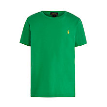 Buy Polo Ralph Lauren Boys' Short Sleeve T-Shirt, Biscay Green Online at johnlewis.com