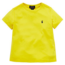 Buy Polo Ralph Lauren Boys' Comfort Cut T-Shirt, Hampton Yellow Online at johnlewis.com