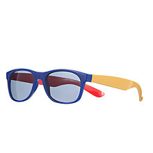 Buy John Lewis Colour Block Wayfarers Sunglasses, Bright Blue Online at johnlewis.com