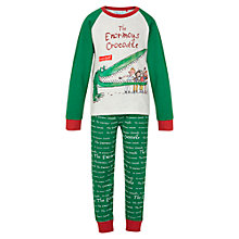 Buy The Enormous Crocodile Pyjamas, Green/Grey Online at johnlewis.com
