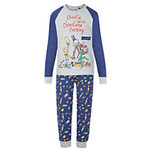 Buy Roald Dahl Charlie and the Chocolate Factory Pyjamas, Blue/Grey Online at johnlewis.com