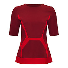 Buy Jaeger Compact Jersey Top, Winter Berry / Cherry Online at johnlewis.com