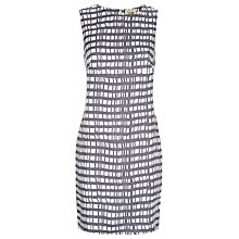Buy Havren Painted Check Print Dress, Charcoal Combo Online at johnlewis.com