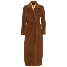 Buy Jaeger Alpaca Belted Coat, Conker Online at johnlewis.com