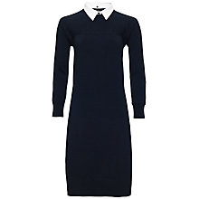 Buy Jaeger Merino Wool Dress, Navy Online at johnlewis.com