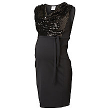 Buy Mamalicious Vivi Sequin Mix Maternity Dress, Black Online at johnlewis.com