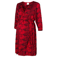 Buy Mamalicious Ivy 3/4 Length Sleeves Woven Dress, Jester Red Online at johnlewis.com