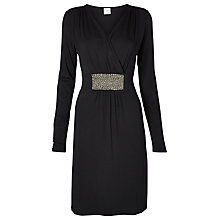 Buy Mamalicious Dallas Tess Long Sleeve Jersey Maternity Dress, Black Online at johnlewis.com