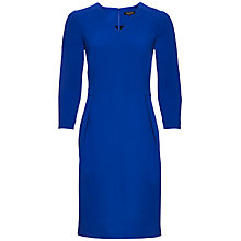 Buy Jaeger Crepe Waisted Wool Dress, True Blue Online at johnlewis.com