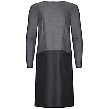 Buy Jaegar Colour Block Wool-Blend Dress, Grey / Navy Online at johnlewis.com