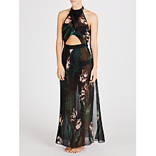 Buy Ted Baker Pixe Palm Floral Cover Up, Black Online at johnlewis.com