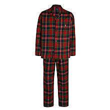 Buy Polo Ralph Lauren Plaid Pyjama Gift Set, Red Online at johnlewis.com