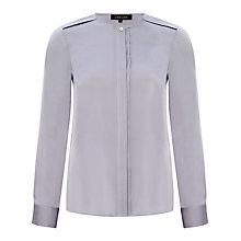 Buy Jaeger Silk Satin Collarless Blouse Online at johnlewis.com