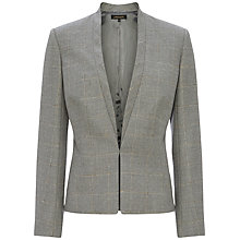 Buy Jaeger Window Pane Wool-Blend Jacket, Light Grey Melange Online at johnlewis.com