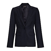 Buy Jaeger Flannel Wool Blend Blazer, Navy Online at johnlewis.com