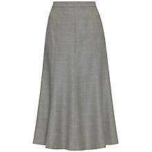 Buy Jaeger Window Pane Flannel Skirt, Grey Melange Online at johnlewis.com